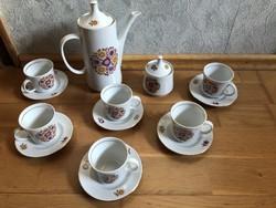 Alföldi tűzvirágos kávés készlet - 6 személyes