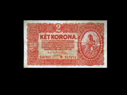 2 KORONA - REMEK ÁLLAPOTBAN - CSILLAGOZOTT SORSZÁM - 1920-BÓL