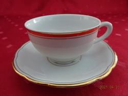 MZ Csehszlovák porcelán antik kávéscsésze + alátét.