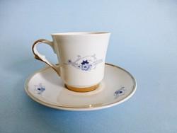 Retro,vintage lengyel aranyozott,kék virágos kávéscsésze