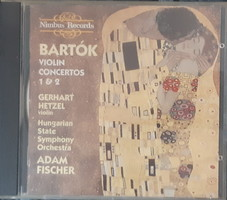 GERHART HETZEL VIOLIN  BARTÓK CONCERTOS 1 & 2     CD  RITKA !!