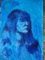 Hincz jelzéssel: Kék női portré