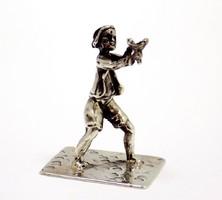 Ezüst csúzlis fiú miniatűr (ZAL-Bi40197)