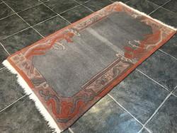 Domború mintás NEPÁLI kézi csomózású gyapjú szőnyeg, 79 x 147 cm