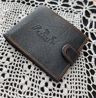 Vadonatúj Guang Tong bőr fekete, férfi pénztárca, 13 cm x 10 cm x 2 cm