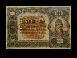 1000 KORONA 1920 - NEM JAVÍTOTT EREDETI  - NAGYON SZÉP