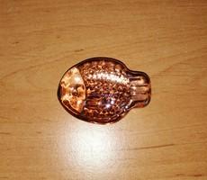 Színes üveg halacska dekorációs kellék 4,5 cm hosszú (1/p)
