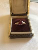 Antik bécsi rókás jelzésű 14 k arany gyűrű