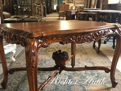 Bécsi Barokk intarziás asztal 2.