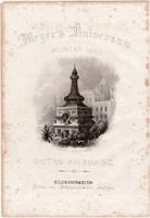 Meyers Universum 9. kötet címlap, Kunkhul, acélmetszet 1861, eredeti, 9 x 10 cm, metszet, India