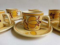 Gránit kávéskészlet - mokkás -  (mid century)