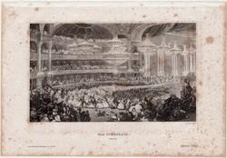 Párizs, Operaház, acélmetszet 1861, Meyers Universum, eredeti, 10 x 17 cm, metszet, Franciaország