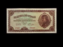 100 000 000 PENGŐ - 1946 - SZÉP - CSAK EGY HALVÁNY HAJTÁSNYOM!