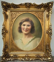 Kövér Gyula (1883 - 1950) Hölgy képmása c. olajfestménye 78x68cm EREDETI GARANCIÁVAL