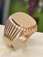 Antik 14 karátos tömör arany pecsétgyűrű