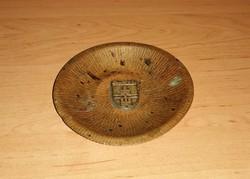 Réz tálka BUDAPEST felirattal 12 cm (KV)