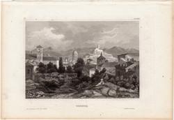 Brescia, acélmetszet 1861, Meyers Universum, eredeti, 10 x 15 cm, metszet, Olaszország, Lombardia