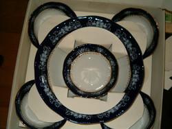ÚJ zsolnay pompadour porcelán kompótos készlet dobozában abszolut új hibátlan bolti ára is rajta van