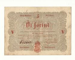 1848 as 5 forint Kossuth bankó papírpénz bankjegy 18848 as szabadságharc pénze sor ul e