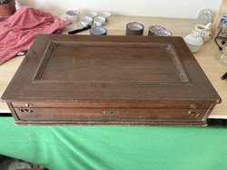 12 személyes ezüst evőeszköz tartó doboza