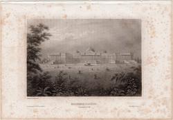 Washington, Capitolium, acélmetszet 1861, Meyers Universum, eredeti, 10 x 15 cm, metszet, Amerika
