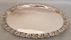 Gyönyörű szép szecessziós ezüst tálca