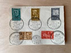 1940 Mátyás Király sor - Máramarossziget visszatért bélyegzéssel