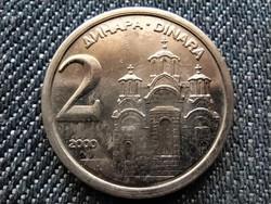 Jugoszlávia 2 Dínár 2000 (id28099)