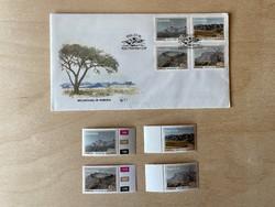 1991 Namíbia hegységei, Mountains in Namibia - emlék boríték + bélyegek