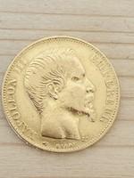 Arany Napóleon 20 frank 1856