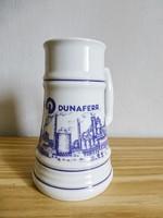 Extrém ritka,retro,vintage,Alföldi város képes korsó,Dunai Vasmű,Dunaferr,Dunaújváros