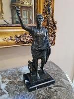 Julius Caesar mitológiai - bronz szobor
