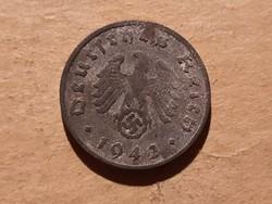 Horogkeresztes 1 Pfennig 1942