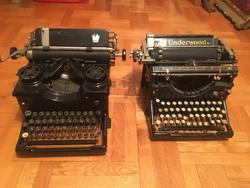 2 db antik írógép