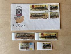 1991 Dél-afrikai Köztársaság/Bophuthatswana, Gőzmozdonyok - emlék boríték + bélyegek