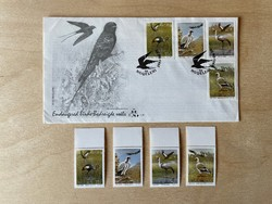 1991 Dél-afrikai Köztársaság/Transkei, Veszélyeztetett Madarak - emlék boríték + bélyegek