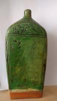 Tótkomlósi zöld mázas butella, XIX század-szlovák felírattal