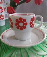 Hollóházi kávés csésze+ alátét