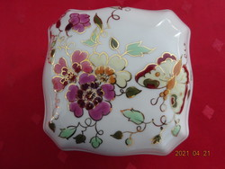 Zsolnay porcelán bonbonier, jelzése 9421/2/026, szignózott.