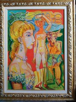 Józsa János festőművész  Druon által ihlettet kép