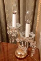 Kristály asztali lámpa.