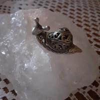 Valódi ezüst mini csiga figura