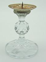 B576 Kristály üveg gyertyatartó - hibátlan szép állapotban