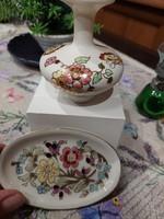 Zsolnay pillangós váza+tálka