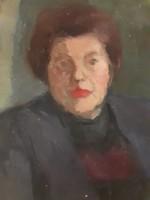 Iván Szilárd: Vörös hajú nő portréja, eredeti olaj-vászon