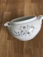 Régi porcelán koma tál 12 cm magas 23 cm széles.