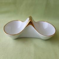 Art deco, német fehér porcelán sótartó, fűszertartó