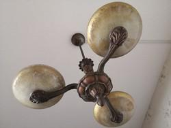 Háromkarú antik bronz csillár