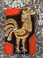 Kedves kis kakast ábrázoló falikép