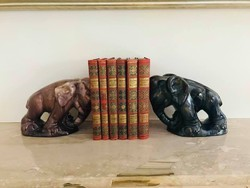 Art Deco Komlós kerámia elefánt pár